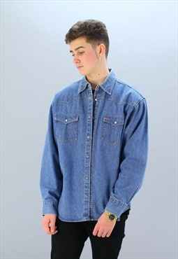 Mens Vintage  Denim  Shirt Z-55