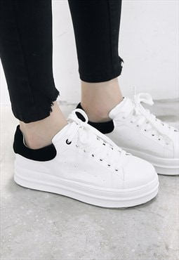 Clearance: White Platform Trainers