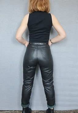 Leather Mom Trousers