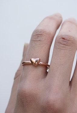 1990's Rose Gold Heart Ring
