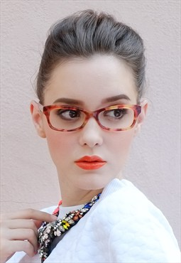 Cat Eye Multi- colored Tortoiseshell Translucent Frame