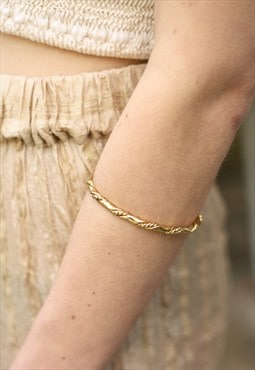 1980's Twisted Gold Bangle