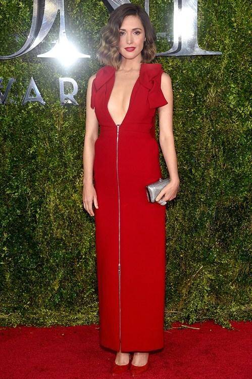 Rose Byrne </del> Delpozo <del> My Green Bag </del> Tony Awards