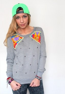 vintage printed gray sweat Mcdonald