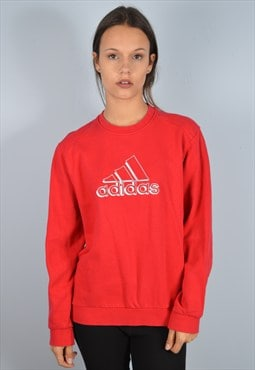 Adidas Womens Vintage Sweatshirt Jumper Large 90's