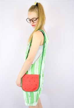 Water Melon Crochet Vintage fruity Shoulder Bag
