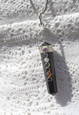 Crystal Point Chakra Necklace