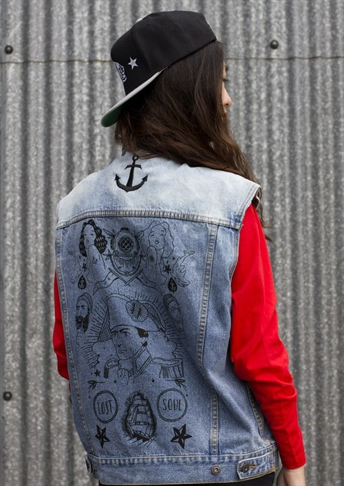 Stay True Denim Gilet by ART DISCO