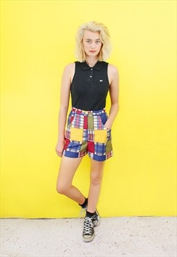 Vintage 90's Patterned Check Shorts