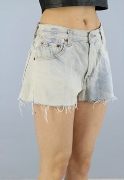 Womens Vintage Bleached Levis Denim 550 Shorts T37