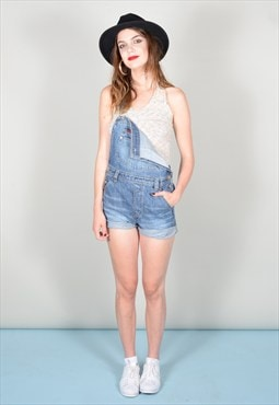 Medium Blue GV2 Dungaree Shorts
