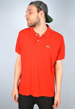 Lacoste Mens Vintage Polo Shirt Large Red 90's