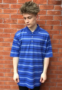 Vintage Polo Golf Ralph Lauren Blue Striped Polo Shirt