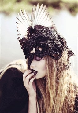 Lace Face Headpiece