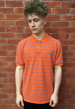Vintage Polo Ralph Lauren Orange Striped Shirt