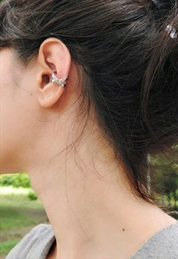 X Cross Sterling Silver Ear Cuff
