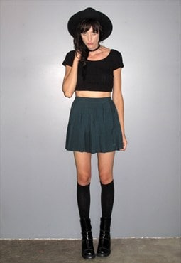 Green Mini Tennis Skirt
