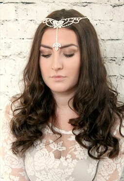 Diamante Butterfly Head Wear