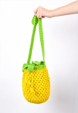 Pineapple Crochet Vintage fruity Shoulder Bag