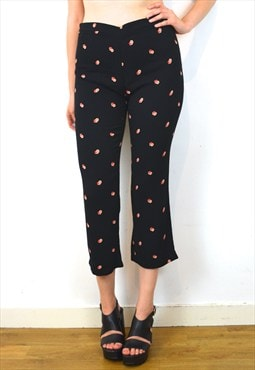 High Waisted Cute Vintage Inspired Culotte Trousers 12