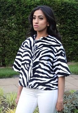 Zebra Oversize Crop