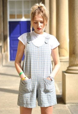 Vintage 90s Checked playsuit