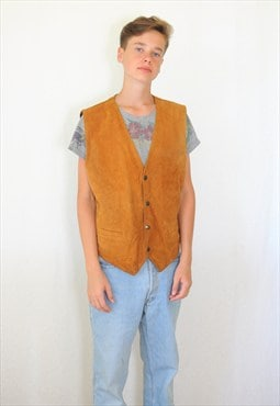 Vintage 90's suede leather vest