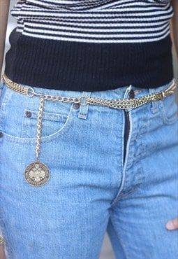 1960's Multi Chain Coin Belt