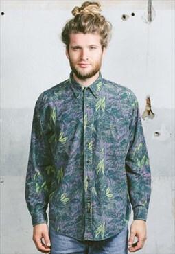 Vintage 90s Abstract Corduroy Shirt