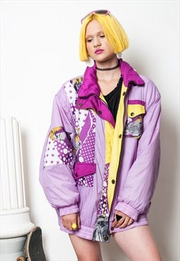 Violet ski coat 90s vintage winter windbreaker