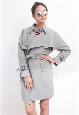 Buttonless Trench Coat