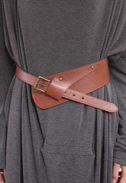 Western Wide Leather Belt