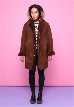 Vintage 70s Sheepskin Shearling Coat 2315567