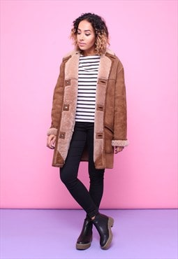 Vintage 70s Sheepskin Shearling Coat 2315541