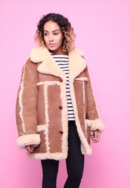 Vintage 70s Sheepskin Shearling Coat 2315574