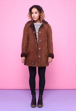 Vintage 70s Sheepskin Shearling Coat 2315566