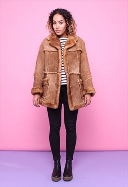 Vintage 70s Sheepskin Shearling Coat 2315579