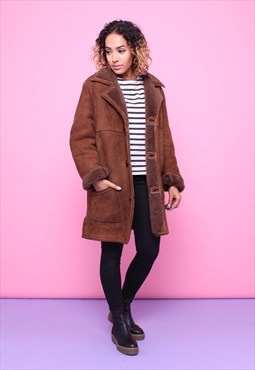 Vintage 70s Sheepskin Shearling Coat 2315565