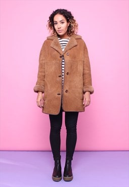 Vintage 70s Sheepskin Shearling Coat 2315581