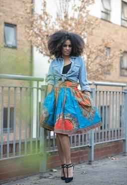 Bosco Dashiki Midi Skirt