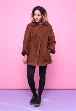 Vintage 70s Sheepskin Shearling Coat 2315585
