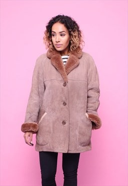 Vintage 70s Sheepskin Shearling Coat 2315584