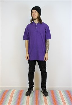 VTG L Purple Ralph Lauren Polo Shirt -PLM78