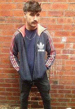 vintage ADIDAS originals M black trefoil hoodie tracksuit
