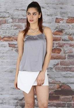 Lucy Grey Satin Cami Top
