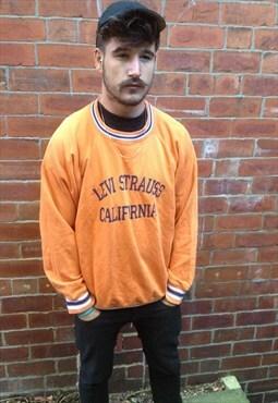 vintage LEVI'S sweatshirt jumper original mens LM/L orange