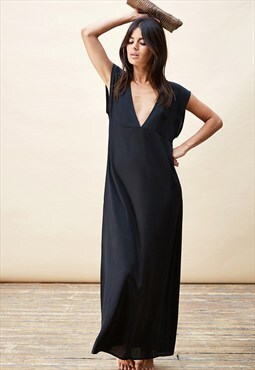 Quintino Maxi Dress in Black Orchid