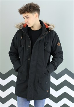 NEW Winter Removable Hooded Parka Jacket Coat