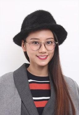 Angora Hairy Fedora Hat