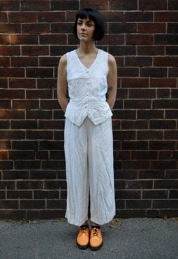 Vintage Jumpsuit with Waistcoat Top